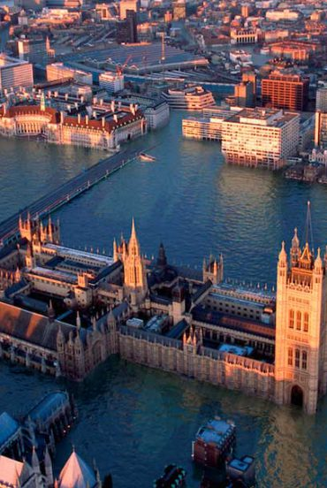 Londres en 100 años inundada: imagen de Jason Hawkes, The Mirror UK